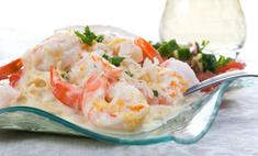 Морепродукты и красная икра: рецепт салата