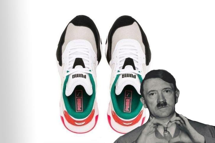 Фото №1 - Кроссовки Puma обвинили в том, что они похожи на Гитлера