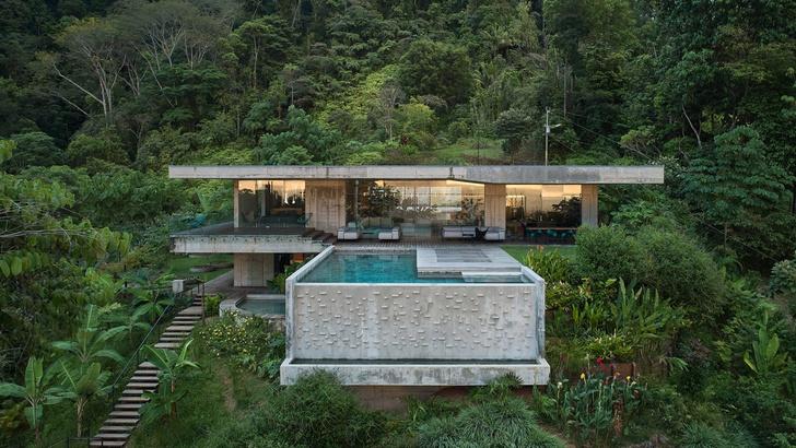 Фото №1 - Бетонная вилла в джунглях Коста-Рики