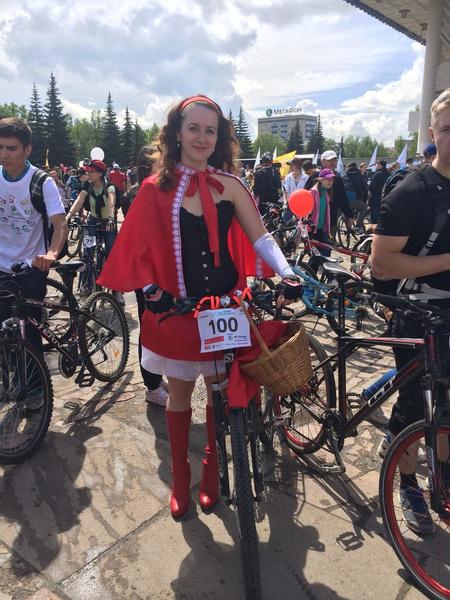 Иркутск. Леди на велосипеде