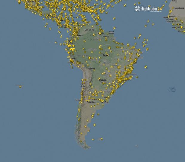 Фото №14 - Как изменился авиатрафик в разных регионах мира во время пандемии