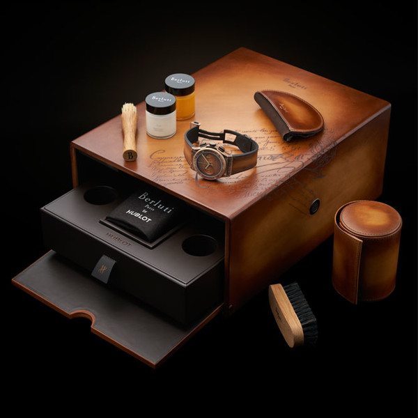 Фото №2 - Коллаборация класса «люкс»: Hublot и Berluti представили совместную модель часов