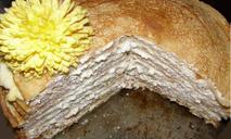 Блинчатый торт с творогом