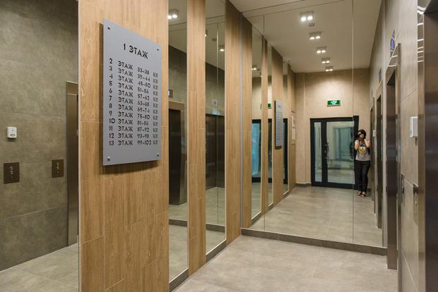 Лифтовый холл в ЖК «Культура»