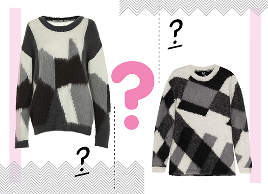 Фото №1 - Дорого-дешево: Пуловер с геометрическим принтом