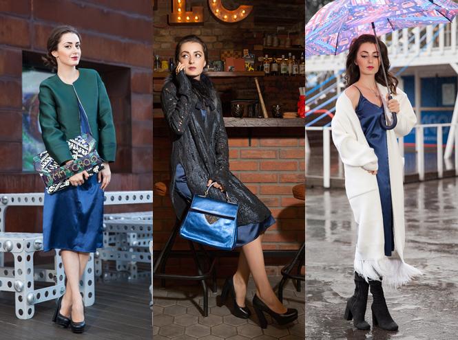 Фото №1 - Базовый гардероб: 5 модных образов с платьем-комбинацией