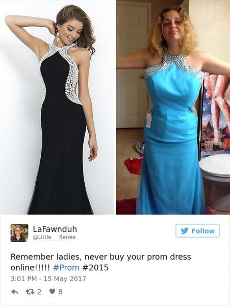 Фото №20 - Ожидание VS реальность: 20 самых нелепых платьев на выпускной, которые заказали в интернете