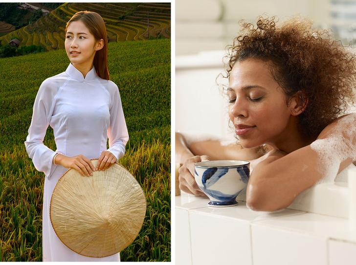 Фото №1 - Рисовая вода и особый чай: 9 удивительных секретов красоты со всего мира