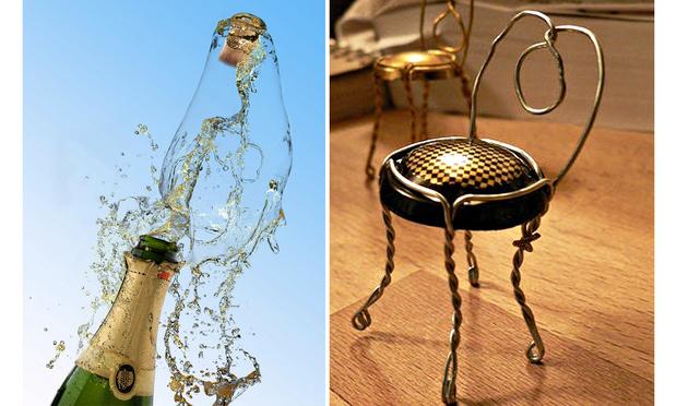 Фото №1 - Как сделать стульчик из пробки и проволочки от шампанского