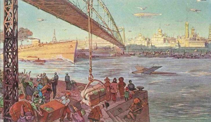 Фото №5 - Как представляли Москву будущего в 1914 году