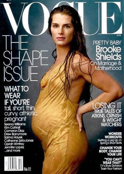 беременные звезды на обложках глянца Миранда Керр