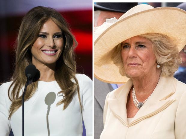 Фото №1 - Неожиданное сходство: почему Меланию Трамп сравнивают с герцогиней Камиллой