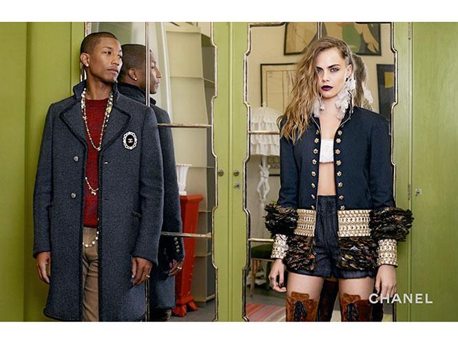 Фото №4 - Кара Дельвинь и Фаррелл Уилльямс в рекламной кампании Chanel