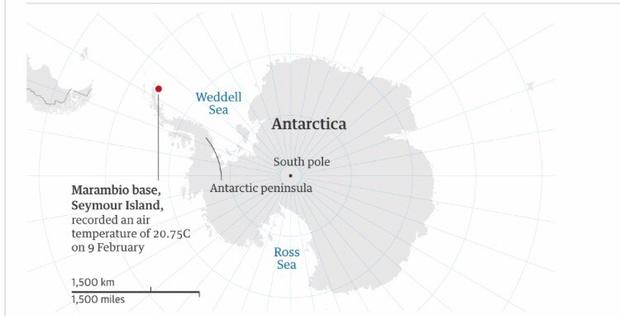 Фото №1 - Аномальное потепление: в Антарктике зафиксирована рекордно высокая температура