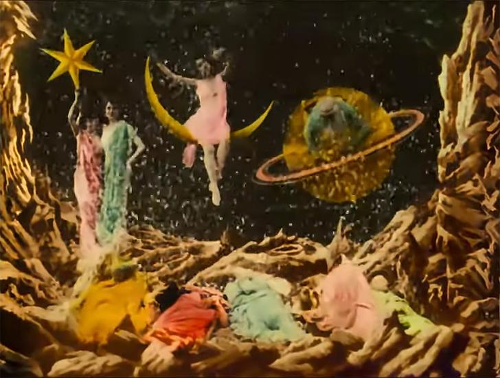 Фото №1 - Короткометражка недели: «Путешествие на Луну» (1902, Франция, 14:05). Цветная 4К-версия.