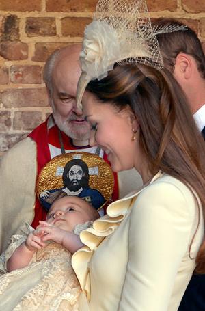 Фото №18 - Самые трогательные моменты крестин детей герцогов Кембриджских