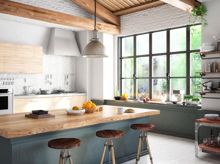 Фото №1 - Как правильно обустроить большую кухню
