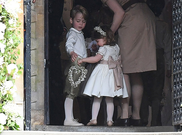 Фото №12 - Принцесса Шарлотта и принц Джордж на свадьбе Пиппы Миддлтон (фото)