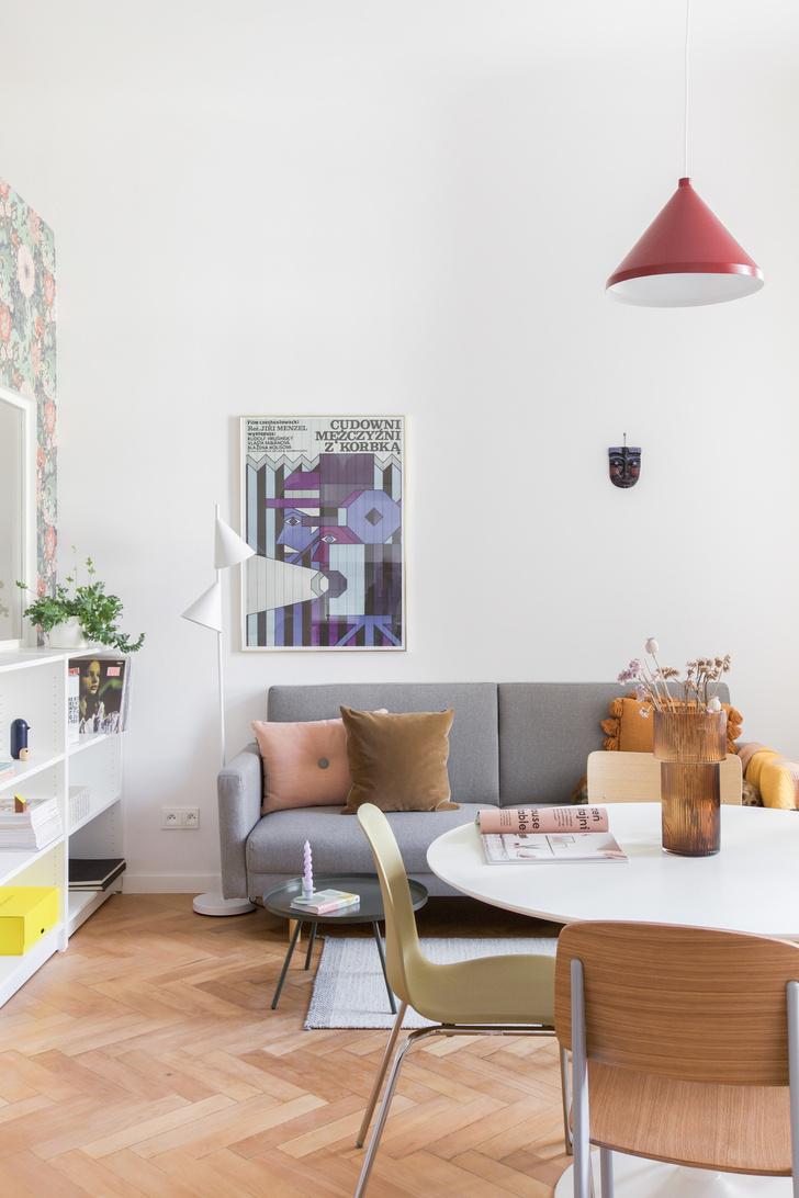 Фото №2 - Маленькая квартира в розовых тонах в Варшаве