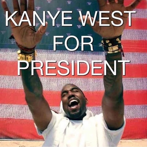 Фото №15 - Канье Уэст пошутил, что собирается баллотироваться в президенты