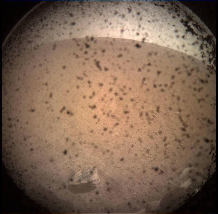 Фото №1 - Марсоход НАСА совершил посадку на Красную планету