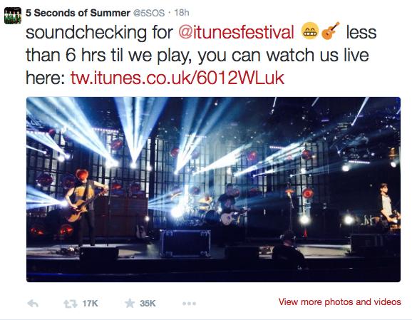 Фото №2 - 5SOS выступили на iTunes Festival 2014
