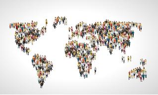 Как выглядит карта мира без стран с населением больше 100 миллионов человек