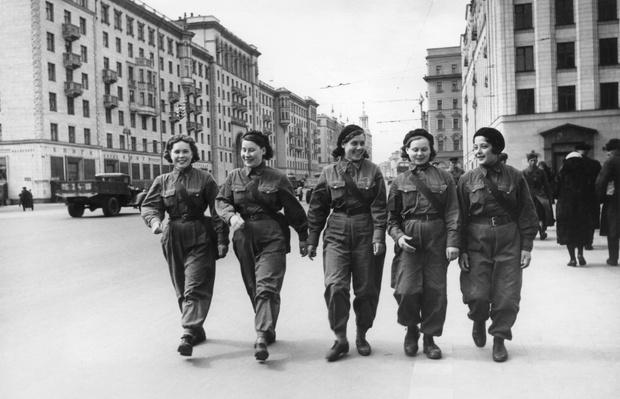 кадры Великой Отечественной войны, военная Москва