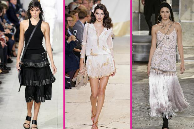 Кендалл Дженнер на неделе моды в нью-йорке