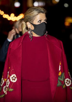 Фото №3 - Какие серьги носить с маской? Похожие на те, что выбрала королева Максима
