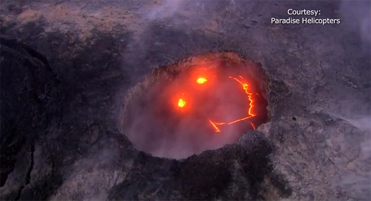 Фото №1 - Опубликовано видео «улыбающегося» гавайского вулкана