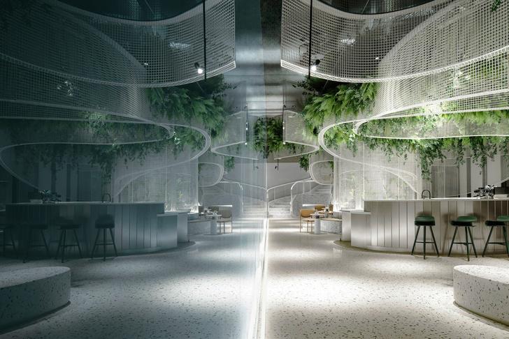 Фото №1 - Кофейня с «парящим» садом в Гуанчжоу