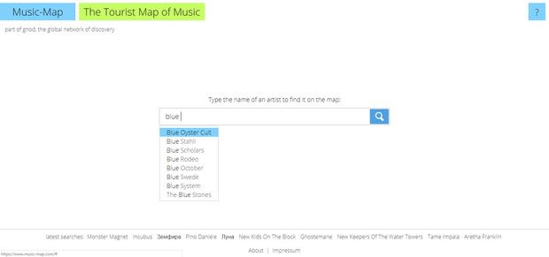 Фото №1 - Сайт дня: Найди себе новую любимую группу на музыкальной карте