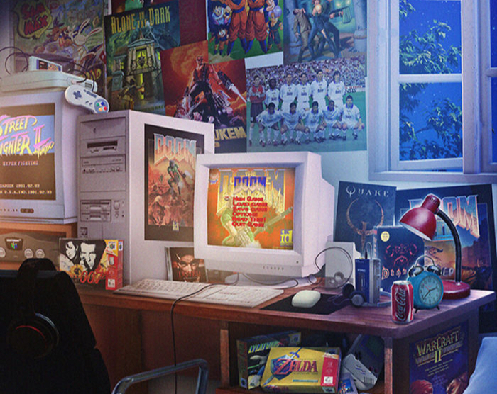 Фото №1 - Художник недели: ностальгические обстановки комнат подростков