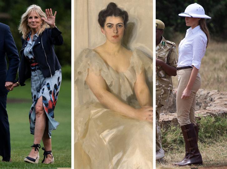 Фото №1 - 12 самых скандальных нарядов Первых леди, за которые им досталось от прессы