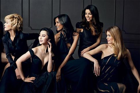 рекламная кампания L'Oréal Color Riche Collection Privée с участием Джейн Фонда, Фань Бинбин, Лия Кебеде, Ева Лонгория, Даутцен Крез.