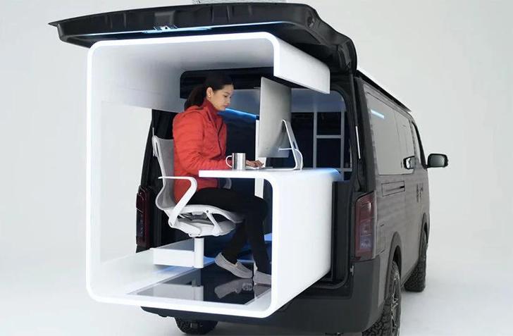 Фото №3 - Кабинет на колесах: концепт передвижного офиса Nissan
