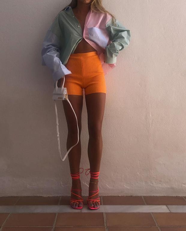 Фото №3 - С чем носить трикотажные шорты? Показывает инфлюенсер Ханна Шонберг