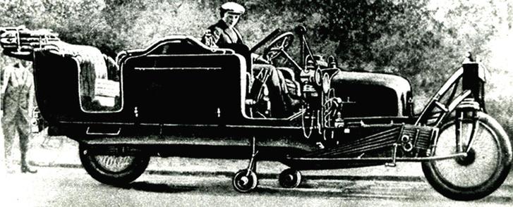 Изящный инженерный нюанс— автоматически выезжающие снизу дополнительные колеса