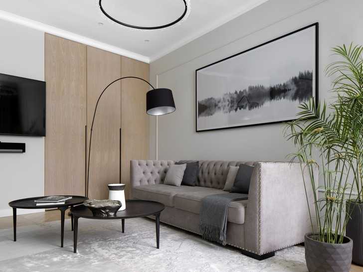 Фото №1 - Элегантная московская квартира в серых тонах 100 м²