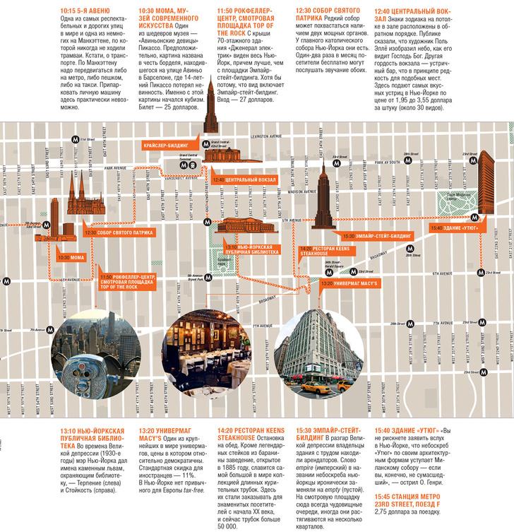Фото №2 - Нью-Йорк за 12 часов: карта города
