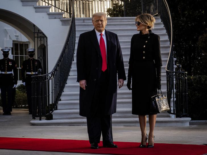 Фото №2 - Обратная трансформация: как Мелания Трамп за один день превратилась из Первой леди в жену миллиардера