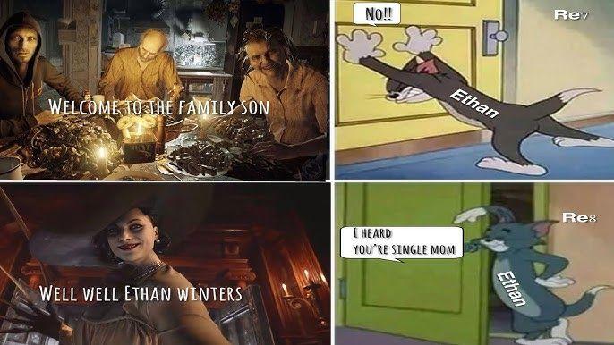 Фото №4 - Самые угарные мемы про Леди Димитреску из новой части «Resident Evil» 🔥