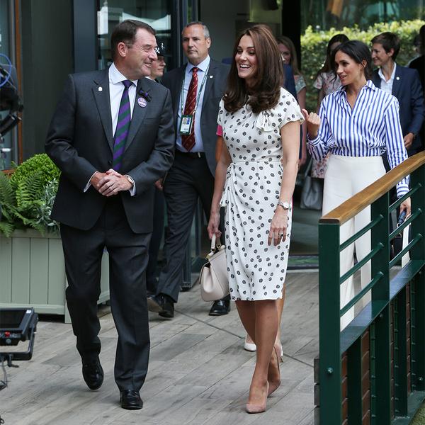 Фото №2 - Кейт в горошек и Меган в полоску: на что намекают две герцогини