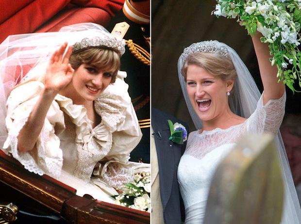Фото №1 - Свадебная тиара принцессы Дианы украсила другую невесту