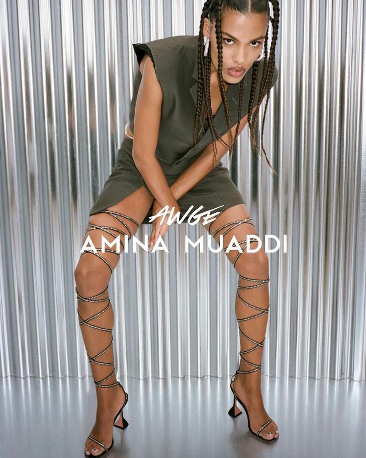 Фото №3 - Такой вы ее еще не видели: Тина Кунаки в рекламной кампании Amina Muaddi