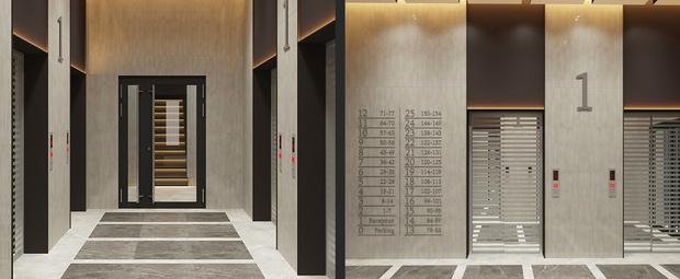 Лифты в «Женеве». Фото с официального сайта девелопера