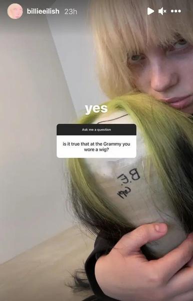 Фото №2 - Билли Айлиш рассказала, почему носила парик