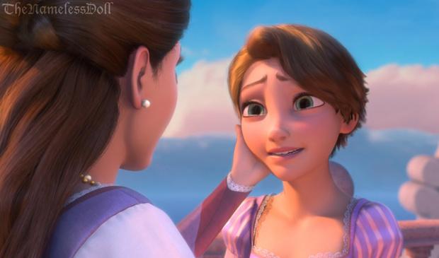 Фото №6 - Как диснеевские принцессы выглядели бы с короткими стрижками?