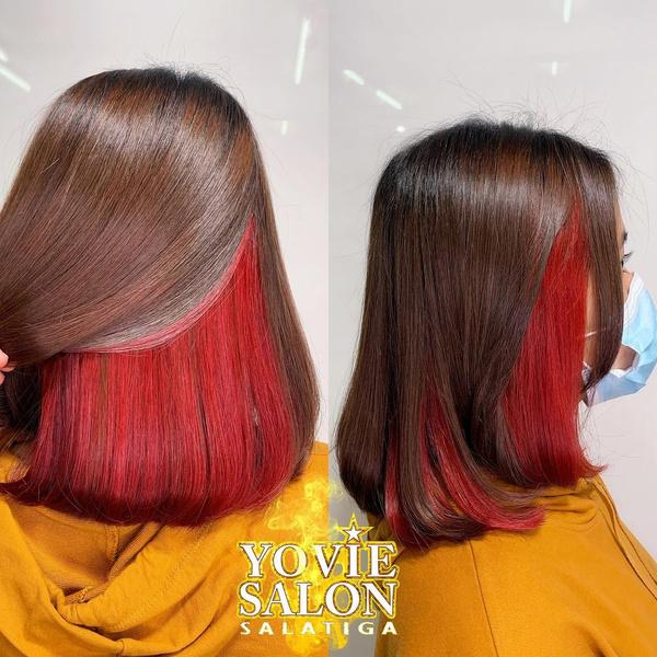 Фото №5 - 10 крутых идей скрытого окрашивания для разного цвета волос
